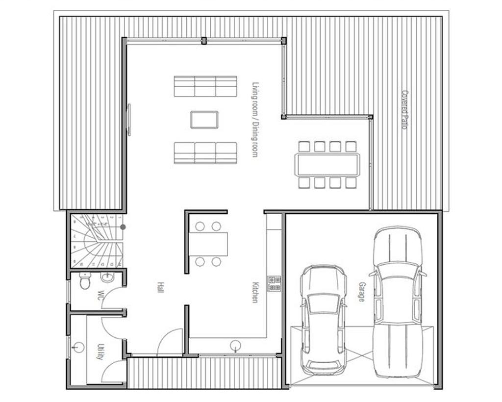 Casa 80 Mq Pianta case in acciaio chiavi in mano - metedil